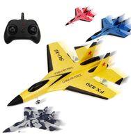 Avión planeador de espuma para niños, avión teledirigido de 2,4G, canales, regalo de cumpleaños