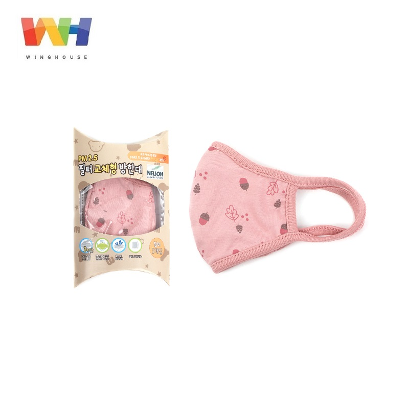 WingHouse Children Mouth Mask Girl Pure Cotton Cute Cartoon Filter Mask Kid Anti Pollution WindProof Warm Mouth Cover