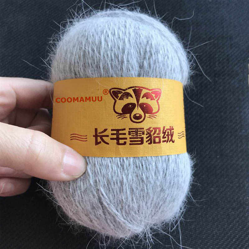 50g + 20 g mejor calidad Long Plush Mink Cachemira hilo de tejer a mano hilo fino para sudadera tejida bufanda sombrero de lujo para mujer