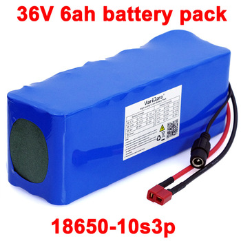 VariCore 36V 12ah 10ah 8ah 12Ah Electric Bike batteries Built in 20A BMS Lithium Battery Pack with 42V 2A Charge Ebike Battery image