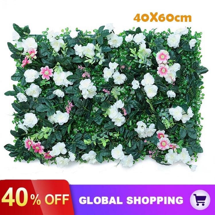 60*40cm Artificial Plant Lawn DIY Background Wall Simulation Grass Leaf lawn wedding carpet Home Decor grass carpet Turf Office