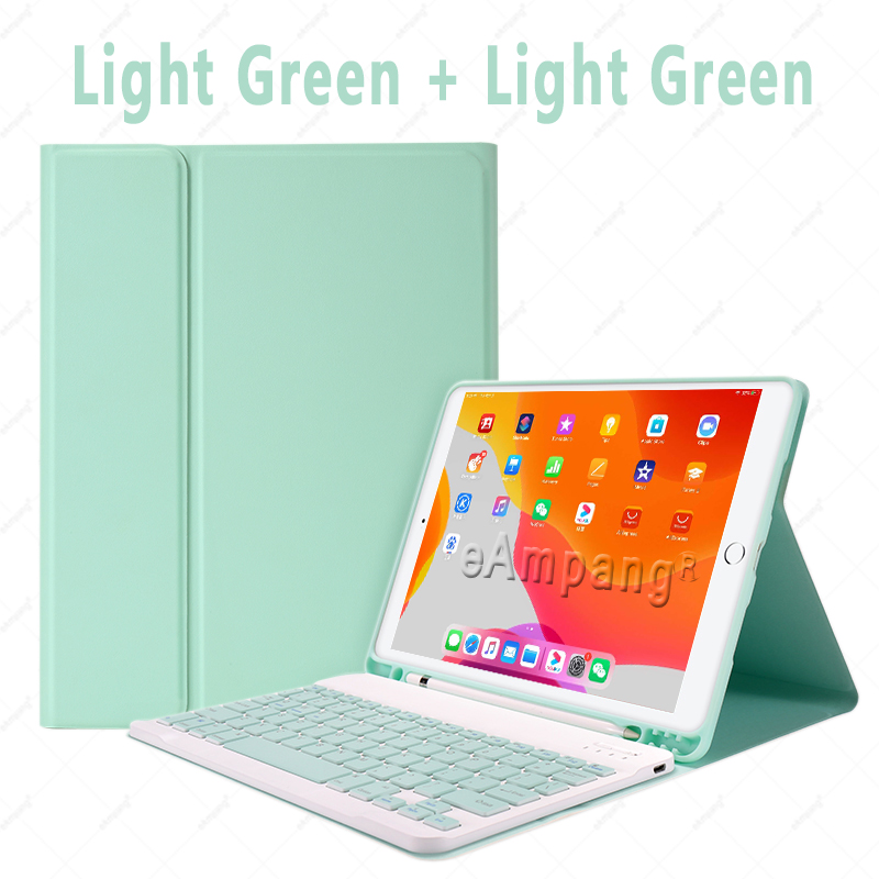 Green no Mouse Green Keyboard Case With Wireless Mouse For iPad Air 4 10 9 2020 4th Generation A2324 A2072