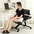 Hotsale Knie Stuhl Leder oder mesh Schwarz Stuhl Mit Caster mit Zurück und Griff Büro Kniend Stuhl Ergonomische Haltung-in Bürostühle aus Möbel bei