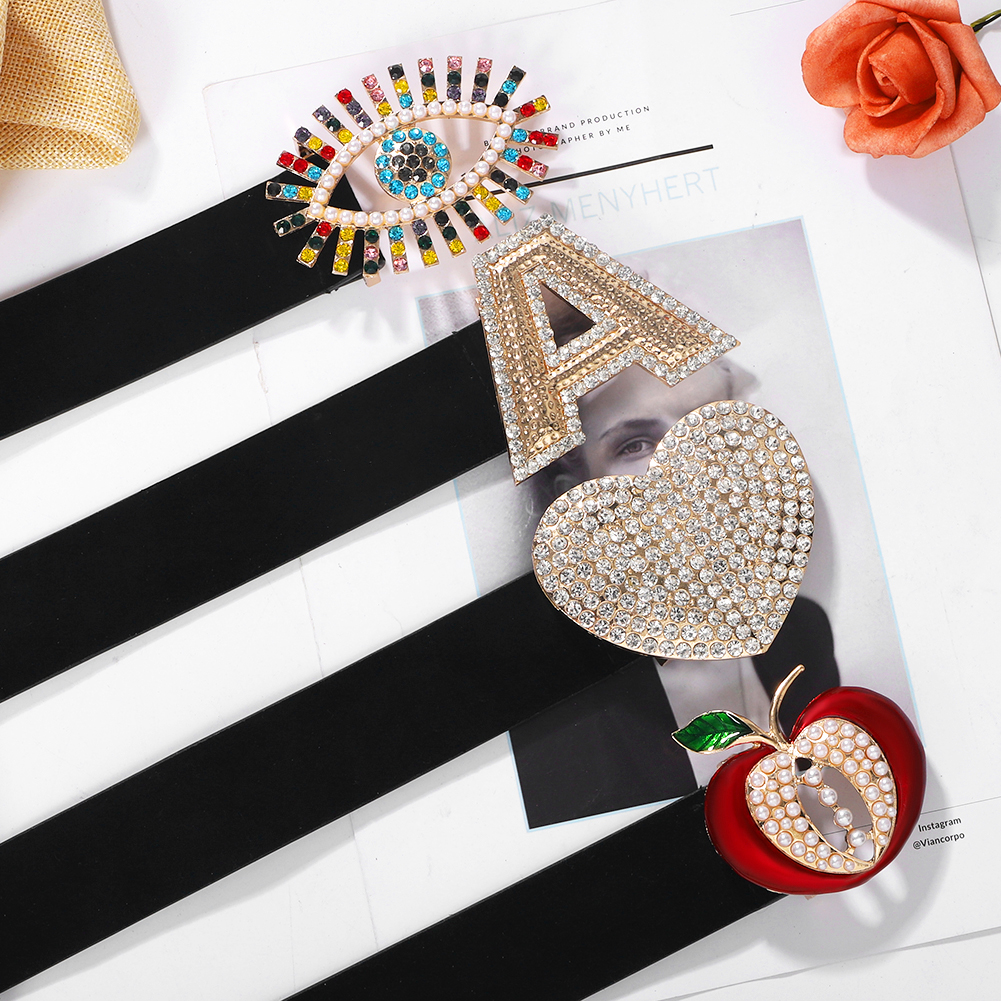 Best Lady Fashion Hear Eyes Buckle Women Belts Black PU Leather Letter Fruites Belly Chain For Wedding Party Waist Accessories