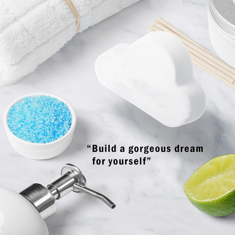 New Hot 100g Natural Skin Care Cloud Rainbow Bath Salt Shower Bomb Exfoliating Moisturizing Bubble Bath Bombs Ball