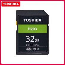 Mémoire haute vitesse dorigine TOSHIBA SD N203 32G 64G 128G U1 carte SD prise en charge de la prise de vue Full HD pour appareil photo reflex numérique Canon Nikon