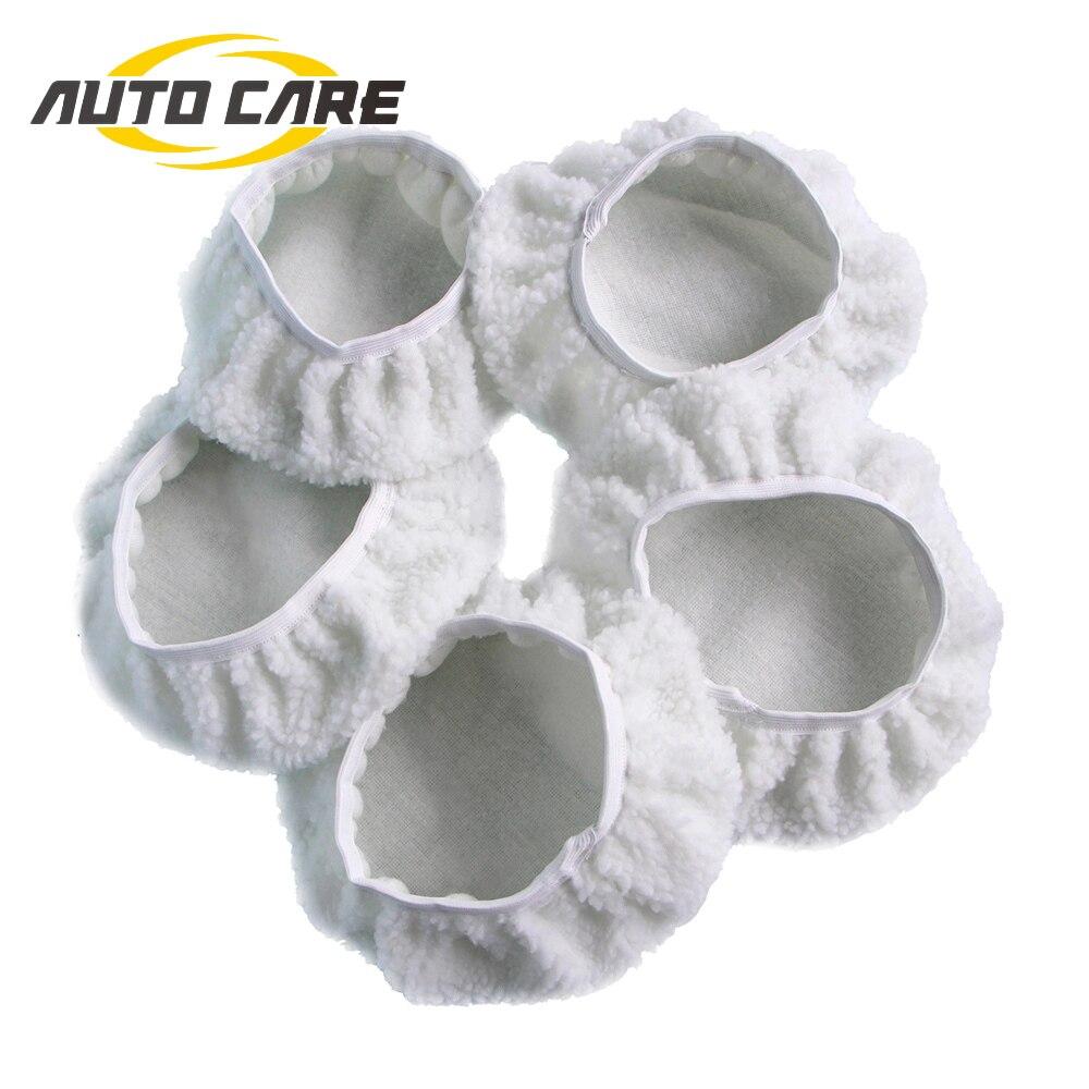 Autocare 5-Pack Microfibre Car Paint Polisher Bonnet Pads 5 inch