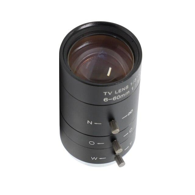 "Camera Lens 6 60 Mm 1/3 ""Cctv Camera Cs Mount Lens, Manual Iris, Hd Lens, varifocale Handmatige Iris Lens, Megapixel Cctv Lens"