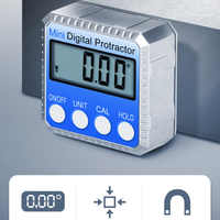 360 Degree Mini Digital Inclinometer Bevel Box Level Instrument Electronic Protractor Magnetic Angle Gauge Finder Goniometer