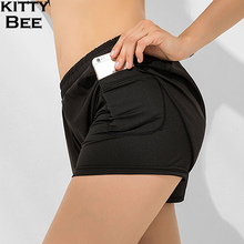 Gym Shorts Women Yoga With Pocket Sport For Fitness Workout Spandex Running Sports Wear