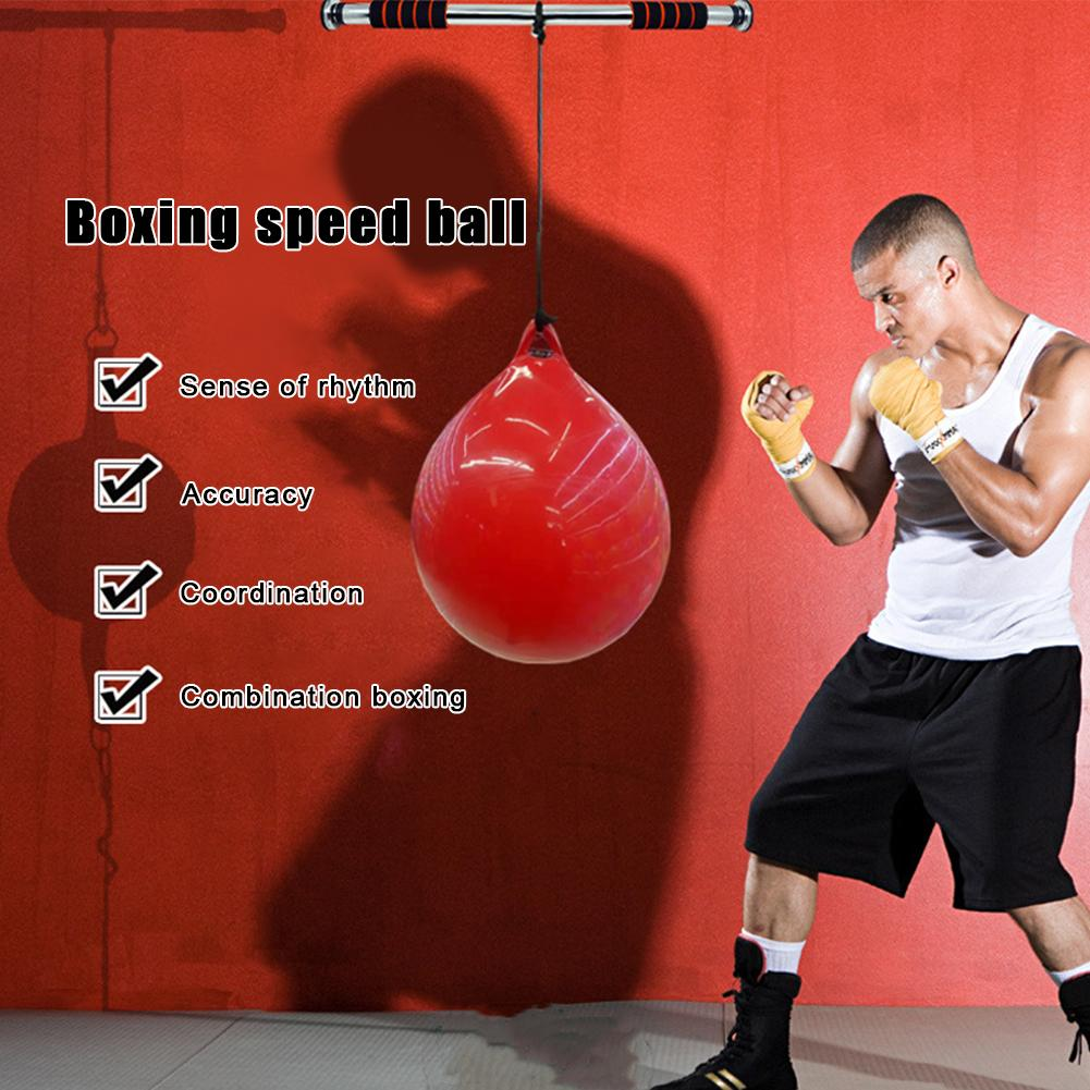 Elasticity Water Injection Training Bag Hoisting Boxing Bag Exercise Fitness Boxing Ball Wear-resistant Speed Ball