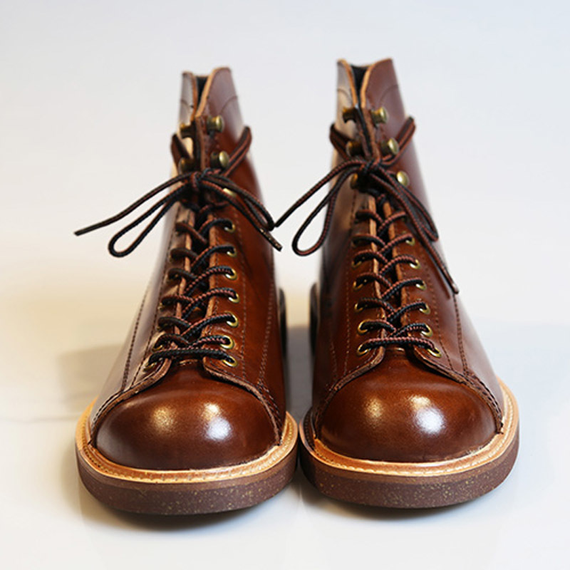 British Style Vintage Mens Boots Cow