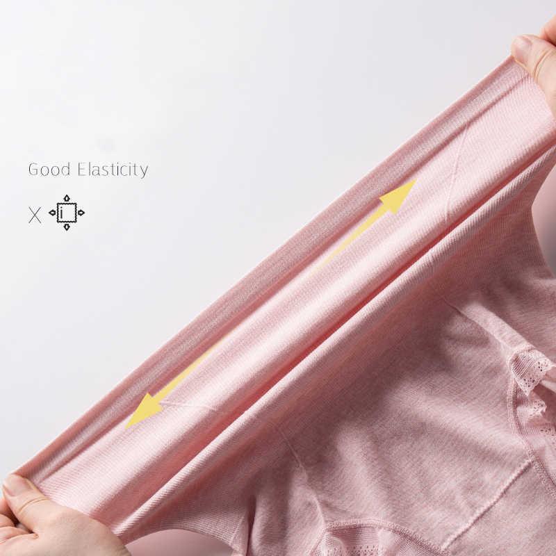 플러스 크기 5XL 4 개/대 높은 허리 팬티 여성 코 튼 속옷 인쇄 바디 셰이 퍼 원활한 팬티 여성 통기성 란제리