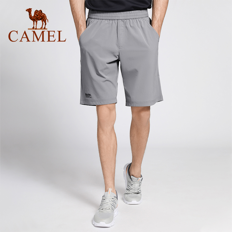 Camel Outdoor Men Clothing Men's Quick-drying Short Pants Spring Summer Solid Color Breathable Man Running Sport Pants
