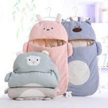 Конверт новорожденного хлопок младенческой зимний спальный мешок 40*80 см спальный мешок коляска теплая и мягкая сумка для пеленания