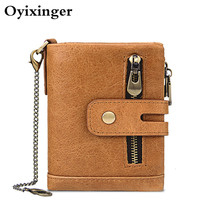 Men Genuine Leather Wallets Rfid Guard Anti Unauthorized Use Of Credit Cards Three Card Position Crazy Horsehide Man Wallet 2020