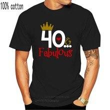 Camiseta para mujer de verano 40, camiseta de 40 cumpleaños para mujer, camiseta bonita para regalo de madre amiga y madre de 40 años 2020
