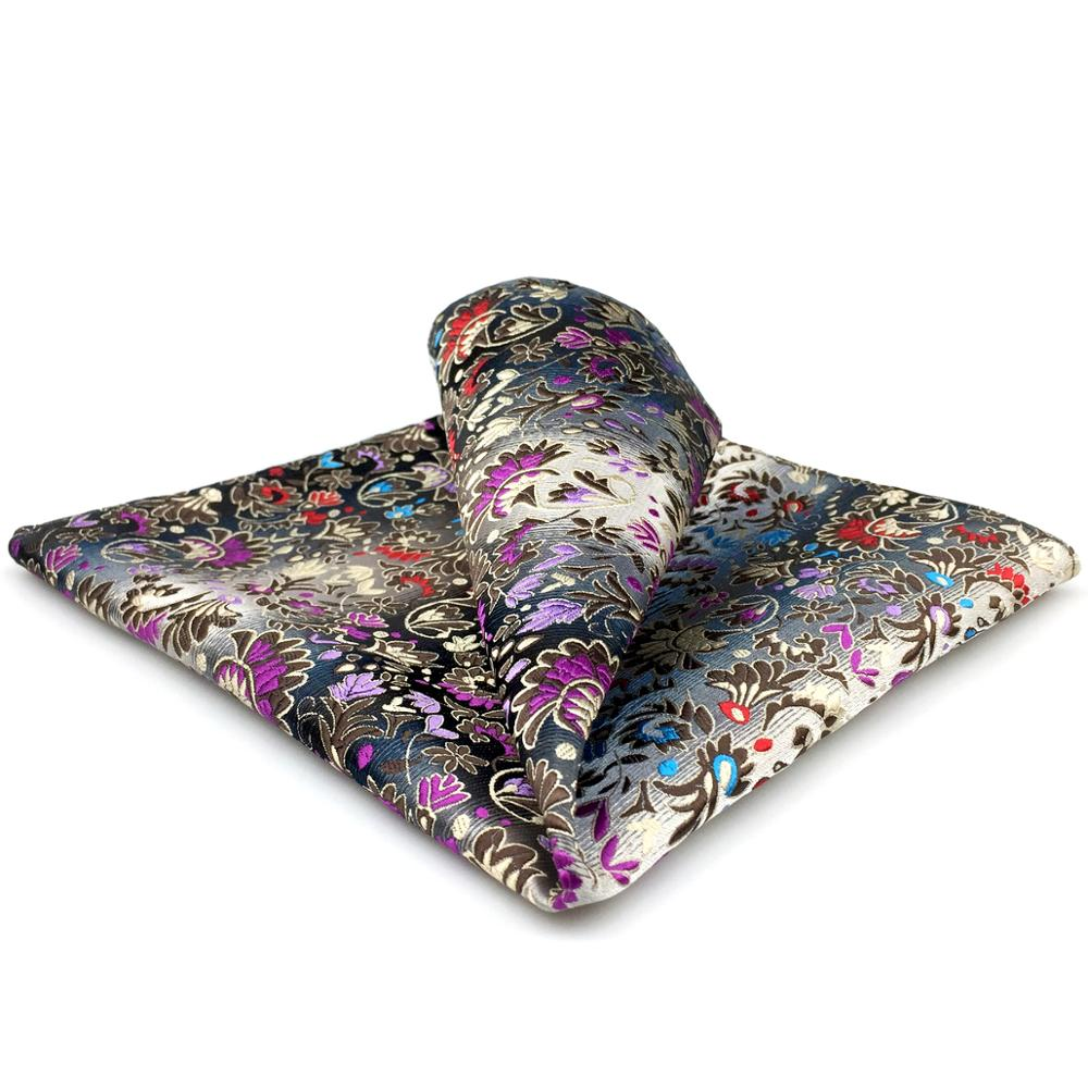 Pocket Square Handkerchief Floral Pattern Multicolor Large 12.6