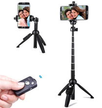 YUNTENG 9928 Foldable Selfie Stick Wireless Bluetooth Remote Extendable Selfie Stick Monopod Tripod Phone Stand Holder Mount