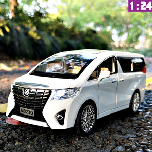 Image 2 - NEW 1:24 1:32 Toyota Alphard Luxury Business Car Model Alloy Pull Back Diecasts Toy Vehicles 6 doors can be opened Free Shipping