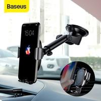 Baseus 2 in 1 차량용 무선 충전기 iPhone X Xs Xr 용 Samsung S9 Note 9 전화 충전기 고속 무선 충전 전화 홀더 스탠드-에서무선 충전기부터 전화기 & 통신 의