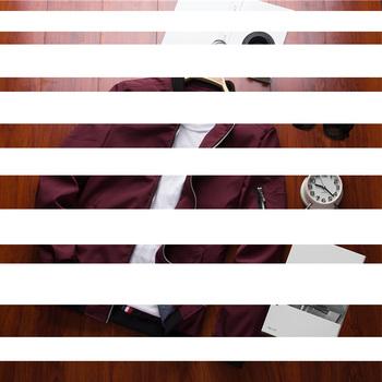 Kurtka z zamkiem męskie casualowe w stylu Streetwear hip-hopowy Slim Fit płaszcz pilota tanie i dobre opinie UZZDSS CN (pochodzenie) Wiosna i jesień Na co dzień POLIESTER Daily zipper Du5466 REGULAR STANDARD NONE Stałe Zamki błyskawiczne