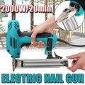 10 30mm Elektrische Gerade Nagel Gun Heavy Duty Holzbearbeitung Werkzeug Elektrischen Staple Nagel 220V 2000W Tragbare Elektrische Tacker Pistole-in Bolzenschussgeräte aus Werkzeug bei
