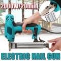 10-30mm pistola de clavos eléctrica recta herramienta para trabajar la madera herramienta eléctrica grapa uñas 220V 2000W pistola clavadora eléctrica portátil