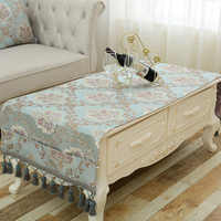 Luxury Table Cloth Europen Jacquard Toalha De Mesa Small Tablecloth Pocket Design Hanging Dinning Bedside Cabinets Table Covers