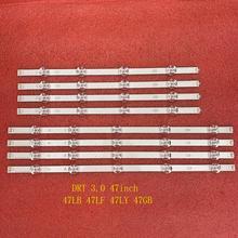 Striscia di retroilluminazione a LED 8 pz/set per LG 47LF6500 47LB6200 47LB5300 47LB570V 47LB652 47LB652V 47LB6300 47LF5610 191962a