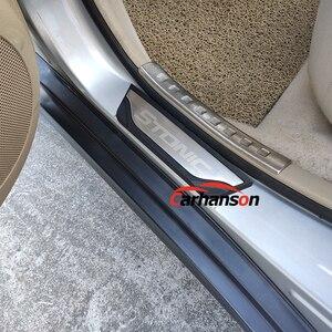 Image 3 - Auto Aufkleber Zubehör Für Kia Stonic Einstiegsleiste Abdeckung Platten Edelstahl Protektoren Guards Auto Styling 2017 2019
