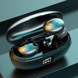 Новинка 2020, беспроводные наушники Bluetooth 5,0, TWS, басовые стереонаушники-вкладыши IPX6, водонепроницаемые, с шумоподавлением, гарнитура с микрофо...