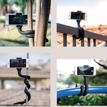 CimaPro RI-47 Travel Outdoor lazy Phone Holder Stand Bracket W Bluetooth Remote Control for iPhone Max Xs X 8 7 Plus Samsung S8