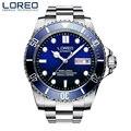 2019 neue Marke LOREO 9203 männer Military Sport Mechanische Uhren Wasserdicht 200M Edelstahl Top Marke Luxus Männer uhr