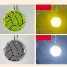 5Pcs Reflective Volleyball Traffic Warning Safety Protection Backpack Pendant Night Security Brightness Reflective Supplies