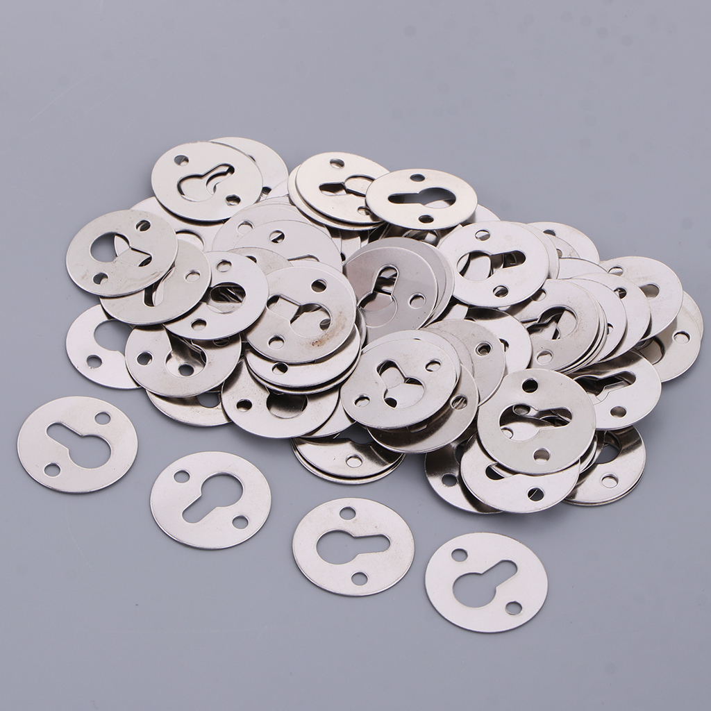 100pcs 23mm Metal Keyhole Hangers Fasteners for Photo Picture Frame Canvas