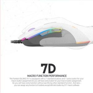Image 3 - FANTECH X17 משחקי עכבר PIXART 3325 10000DPI 7 כפתור מאקרו RGB Wired עכבר גיימר עכבר ארגונומי עכברים LOL FPS משחק עכברים