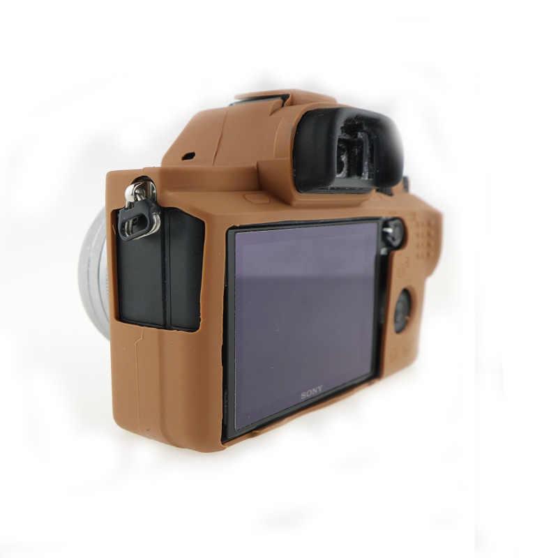 Venda quente caso da câmera de silicone saco capa para sony alpha a72 a7r2 a7s2 em 5 cores, frete grátis