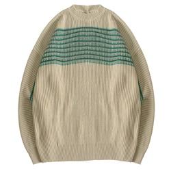 Mannen Jumpers Fijne Gebreide Sweater Crewneck Tops Retro voor Adolescenten Jong Jongens Leisure Outdoor Herfst Winter