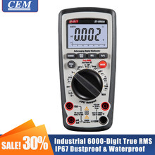 Multímetro digital eletricista medidor amperímetro universal cem DT-9960H verdadeiro rms retroiluminação anti-queima de alta precisão ncv