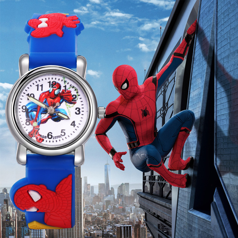 Kids Watches Boys Spiderman Children's Cartoon Watch Silicone Sports Quartz Wrist Watches Gifts For Boys Montre Enfant Garcon