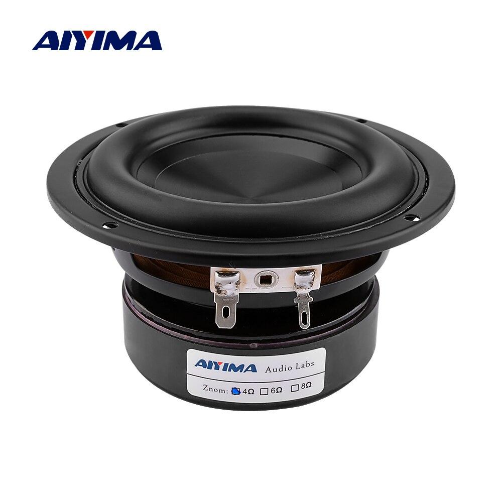 AIYIMA 1 шт. 4 дюймовый НЧ динамик драйвер 4 8 Ом 100 Вт бас Hifi Звук музыка водонепроницаемый сабвуфер динамик DIY домашний кинотеатр|Полочные АС|   | АлиЭкспресс