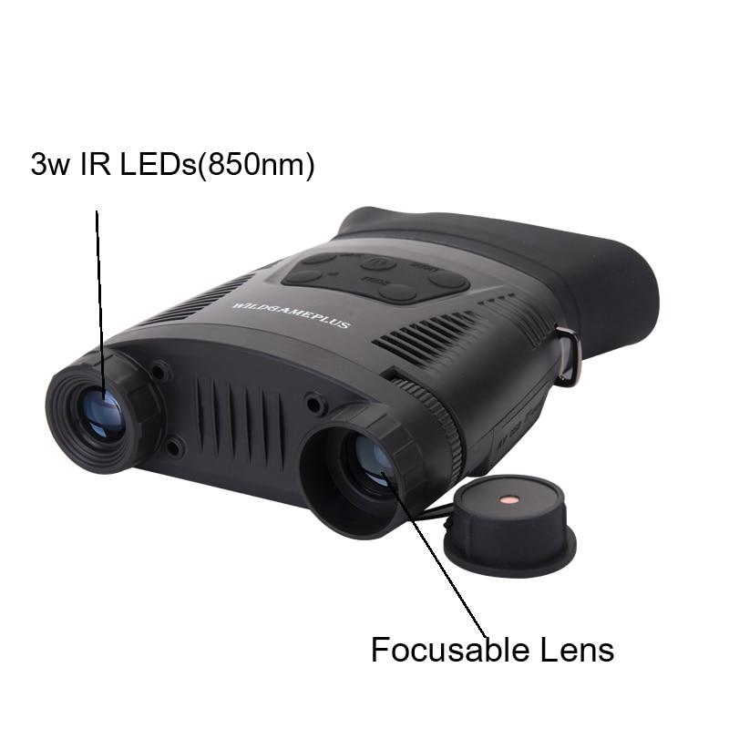 Image 3 - WILDGAMEPLUS NV200C Infrared Night Vision Binoculars Telescope 7X21 Zoom Digital IR Hunting Night Vision Goggles Optical Hunter-in Monocular/Binoculars from Sports & Entertainment on