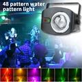 YSH цветной Авто вращающийся RGB светодиодный светильник, сценический светильник, водяные волны, вечерние лампы, диско для украшения дома, све...
