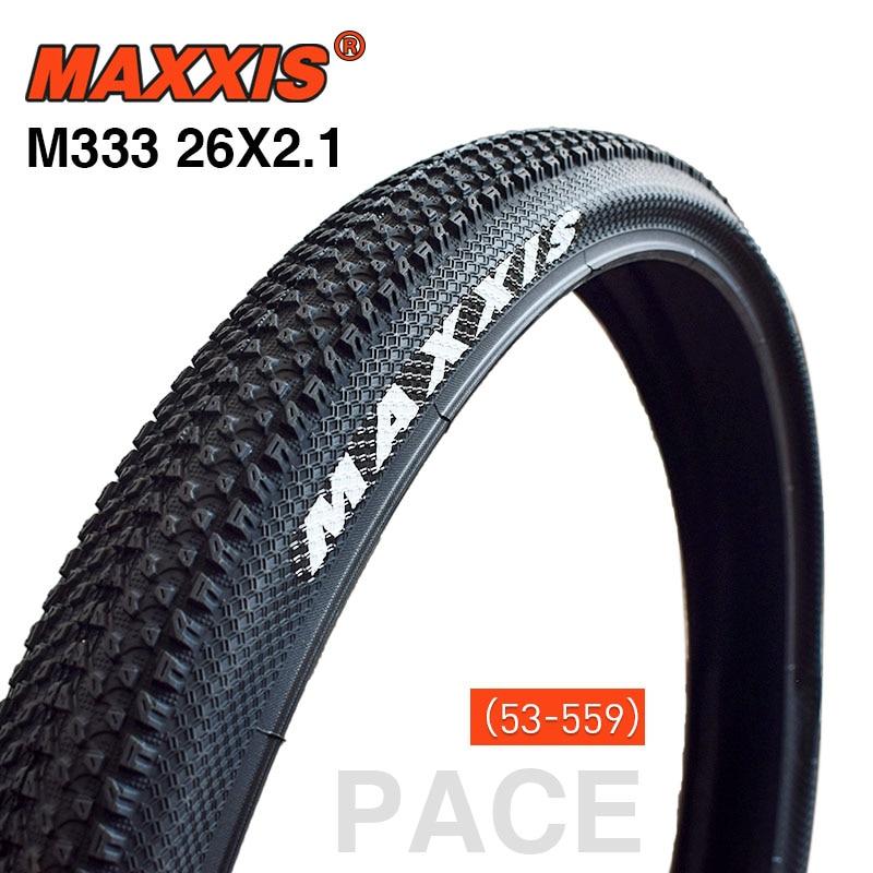 MAXXIS 26 велосипедные шины 26*2,1 PACE белый логотип горный велосипед шина 53-559 пневматические велосипедные детали или AV/FV внутренняя труба