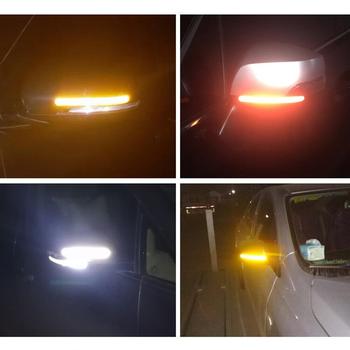 2 sztuk Reflectante naklejki samochodowe reflektor lusterko wsteczne taśma odblaskowa akcesoria samochodowe zewnętrzna taśma odblaskowa pasek odblaskowy tanie i dobre opinie Inne Klej naklejki 16cm 0 1cm Other Zmiana koloru Włókno węglowe 1 5cm Nie pakowane reflective car stickers