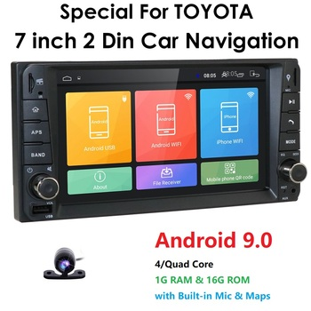 7 Android 9.0 4 Core 2Din Car Media Player for Corolla E120 Toyota RAV4 Hilux Fortuner Innova Prado Allion Auris Hiace No DVD image