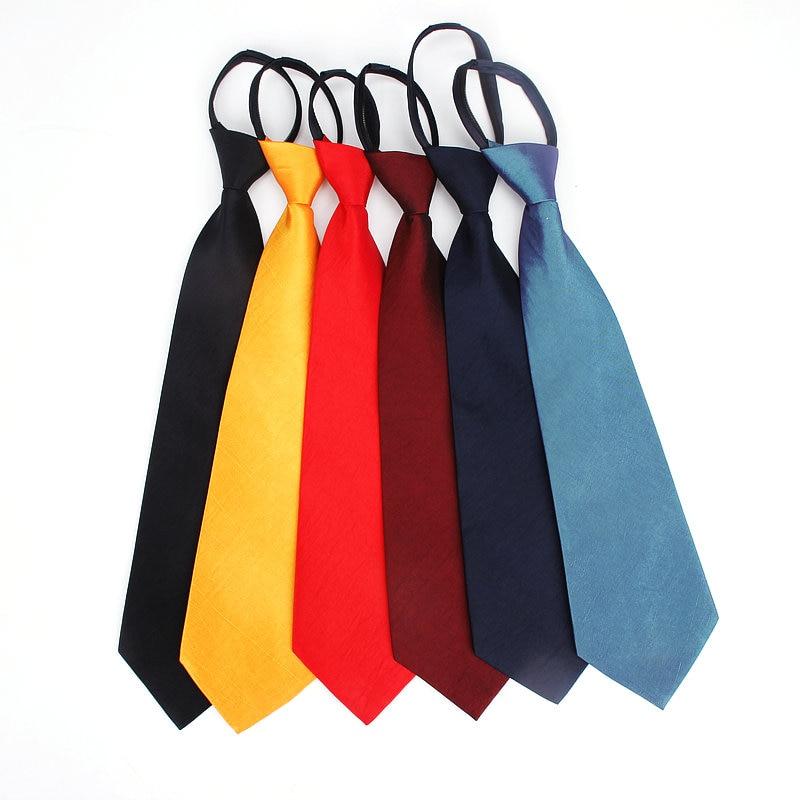 Easy Zipper Tie 8.5cm Lazy Short Men Suit Business Wide Tie Black Red Necktie Neckcloth Neckwear Female Party Gravata Gift