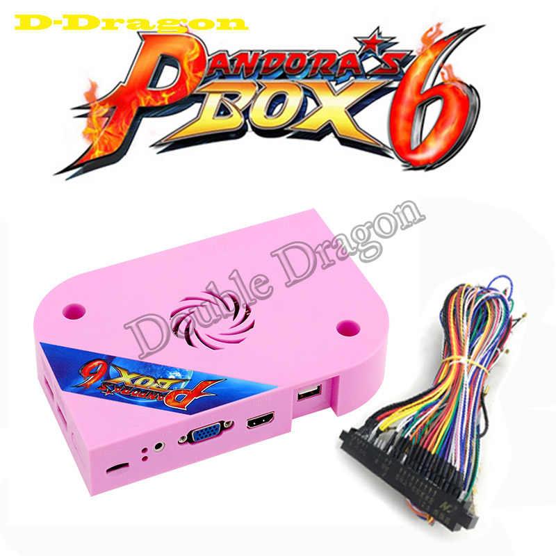 판도라 박스 6 1300 in 1 jamma board 아케이드 머신 용 HDMI VGA cga는 추가 3000 게임을 추가 할 수 있습니다. FBA MAME PS1 게임 3d 게임 지원