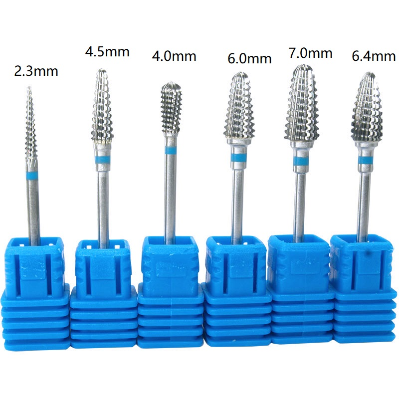 6kinds Carbide Nail Drill Bits Tungsten Carbide Bits Rotary Burr Manicures Drill Accessories Nail Electric Beauty Tools,New